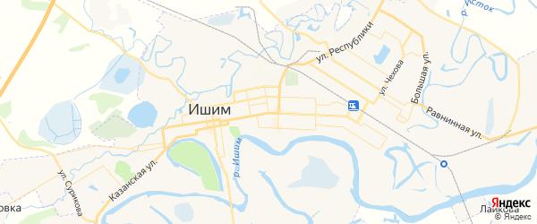 Карта Ишима с районами, улицами и номерами домов