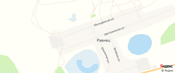 Карта села Равнеца в Тюменской области с улицами и номерами домов