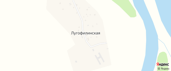 Заречная улица на карте Лугофилинской деревни Ханты-Мансийского автономного округа с номерами домов