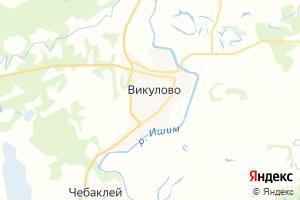 Карта с. Викулово Тюменская область