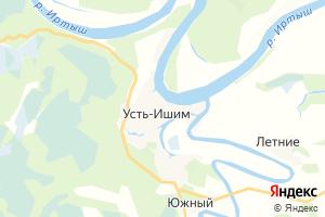 Карта с. Усть-Ишим Омская область