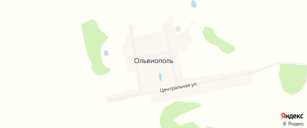 Карта деревни Ольвиополя в Омской области с улицами и номерами домов