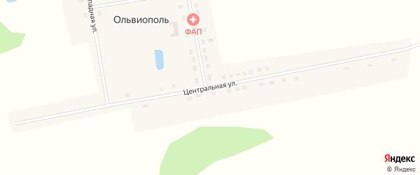 Центральная улица на карте деревни Ольвиополя Омской области с номерами домов