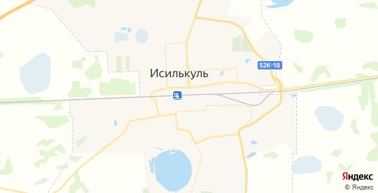 Карта Исилькуля с улицами и домами подробная. Показать со спутника номера домов онлайн
