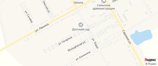 Улица Гагарина на карте Вольного села Омской области с номерами домов