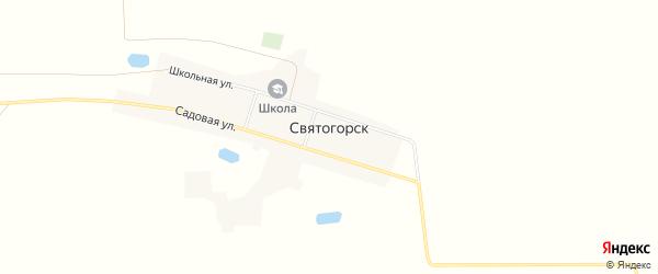 Карта деревни Святогорска в Омской области с улицами и номерами домов