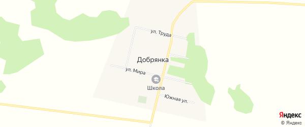 Карта деревни Добрянки в Омской области с улицами и номерами домов