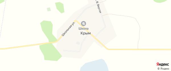 Карта деревни Крыма в Омской области с улицами и номерами домов