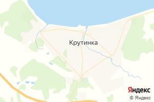 Карта пгт Крутинка Омская область
