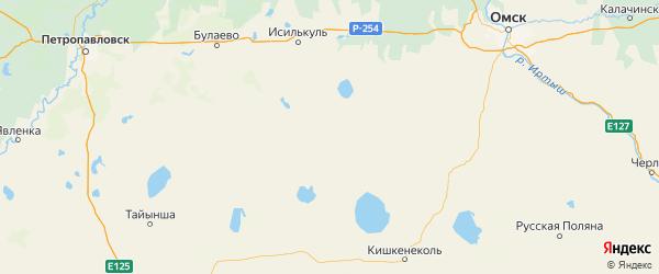 Карта Полтавского района Омской области с городами и населенными пунктами
