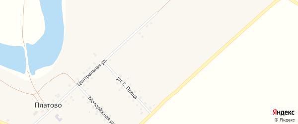 Улица С.Преца на карте села Платово Омской области с номерами домов