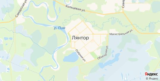 Карта Лянтора с улицами и домами подробная. Показать со спутника номера домов онлайн