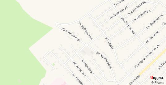 Школьный переулок в Тюкалинске с номерами домов на карте. Спутник и схема онлайн