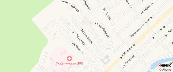 Базарная улица на карте Тюкалинска с номерами домов