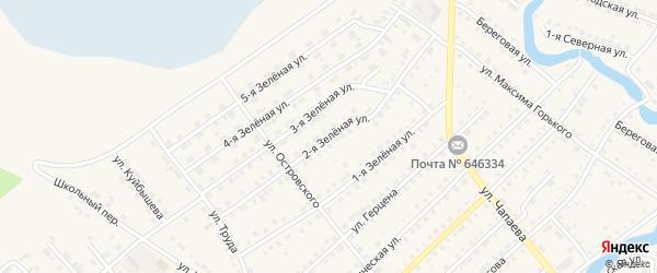 Зеленая 2-я улица на карте Тюкалинска с номерами домов