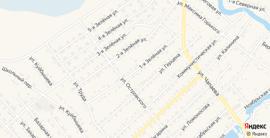 Зеленая 1-я улица в Тюкалинске с номерами домов на карте. Спутник и схема онлайн
