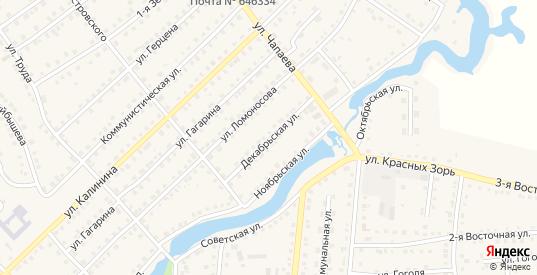 Декабрьская улица в Тюкалинске с номерами домов на карте. Спутник и схема онлайн