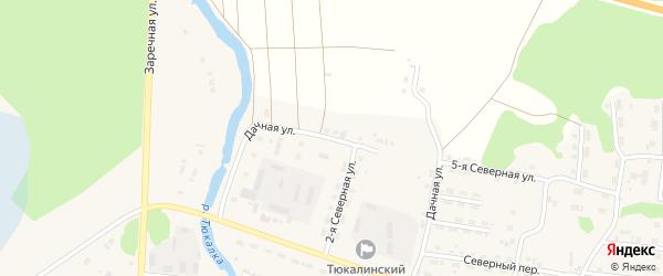 Дачная улица на карте Тюкалинска с номерами домов