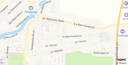 Береговая 1-я улица в Тюкалинске с номерами домов на карте. Спутник и схема онлайн