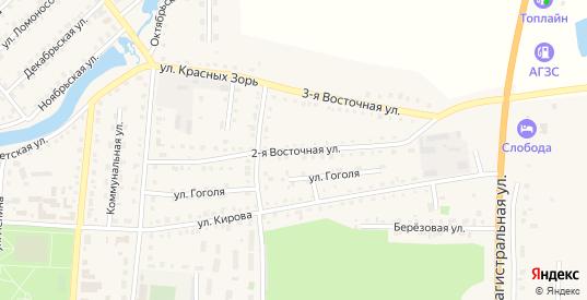 Восточная 2-я улица в Тюкалинске с номерами домов на карте. Спутник и схема онлайн