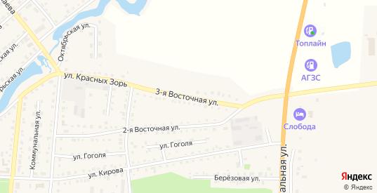 Кооперативная 3-я улица в Тюкалинске с номерами домов на карте. Спутник и схема онлайн