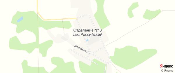Карта деревни Отрадного в Омской области с улицами и номерами домов