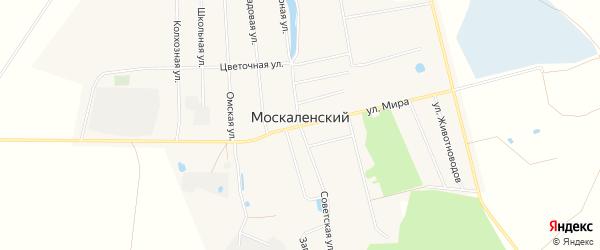 Карта Москаленского поселка в Омской области с улицами и номерами домов