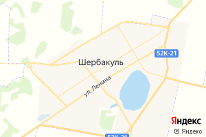 Карта пгт Шербакуль