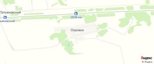 Карта деревни Охровки в Омской области с улицами и номерами домов