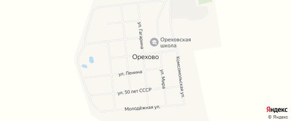 Карта села Орехово в Омской области с улицами и номерами домов