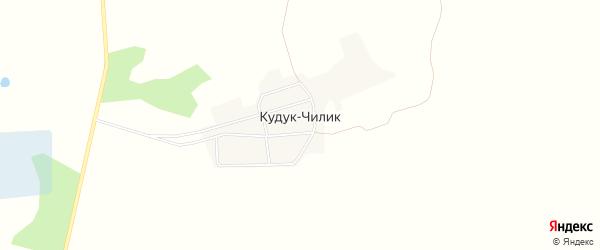 Карта аула Кудука-Чилика в Омской области с улицами и номерами домов