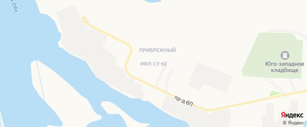 Карта городка СУ-62 города Нефтеюганска в Ханты-Мансийском автономном округе с улицами и номерами домов