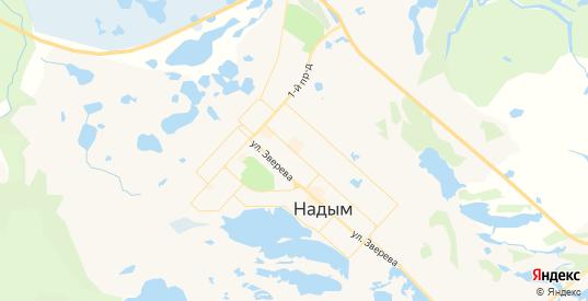 Карта Надыма с улицами и домами подробная. Показать со спутника номера домов онлайн