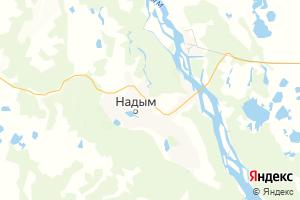 Карта г. Надым Ямало-Ненецкий автономный округ