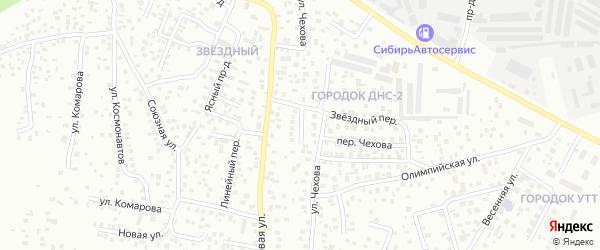 Звездный переулок на карте микрорайона 11А с номерами домов
