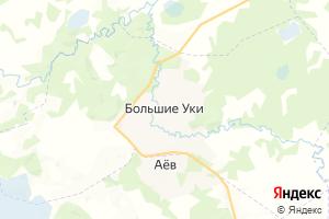 Карта с. Большие Уки Омская область