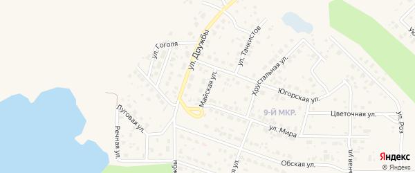 Майская улица на карте Пыти-Ях с номерами домов