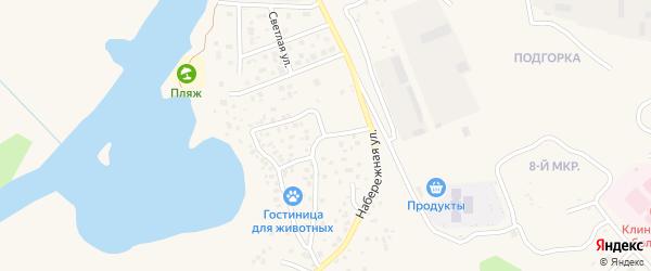 Набережная улица на карте Пыти-Ях с номерами домов