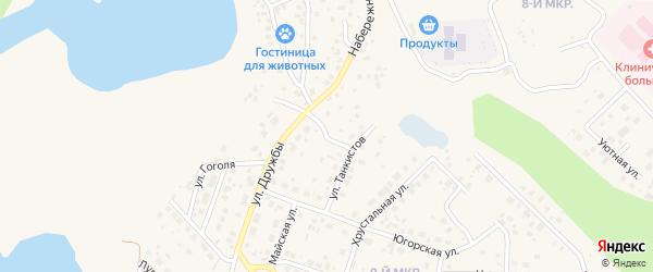 Школьная улица на карте Пыти-Ях с номерами домов