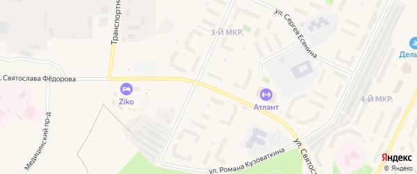 Улица Святослава Федорова на карте Пыти-Ях с номерами домов