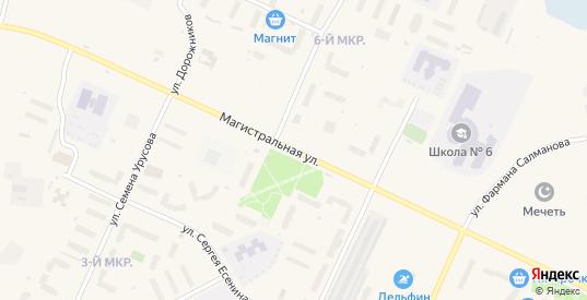 Магистральная улица в микрорайоне 4-й Молодежный в Пыти-Ях с номерами домов на карте. Спутник и схема онлайн