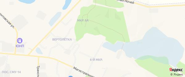 Карта 6а Северного микрорайона города Пыти-Ях в Ханты-Мансийском автономном округе с улицами и номерами домов
