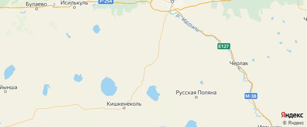 Карта Одесского района Омской области с городами и населенными пунктами