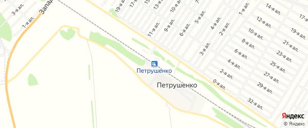 Карта разъезда Петрушенко в Омской области с улицами и номерами домов