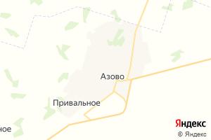 Карта с. Азово Омская область
