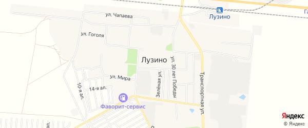Карта села Лузино в Омской области с улицами и номерами домов