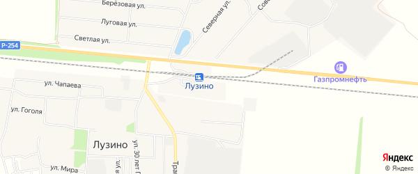 Карта станции Лузино в Омской области с улицами и номерами домов
