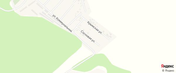 Сосновая улица на карте села Красноярки Омской области с номерами домов