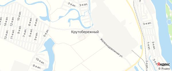Карта Крутобережного поселка в Омской области с улицами и номерами домов