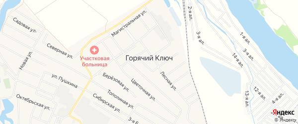 Карта поселка Горячего Ключа в Омской области с улицами и номерами домов
